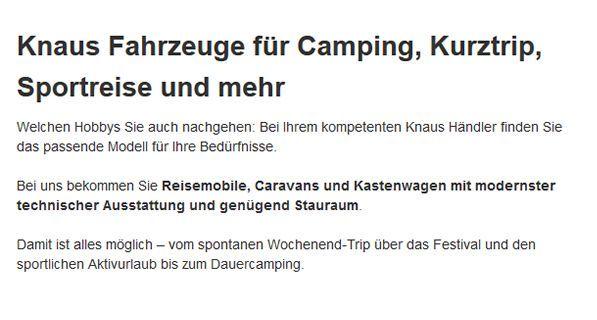 Campingfahrzeuge