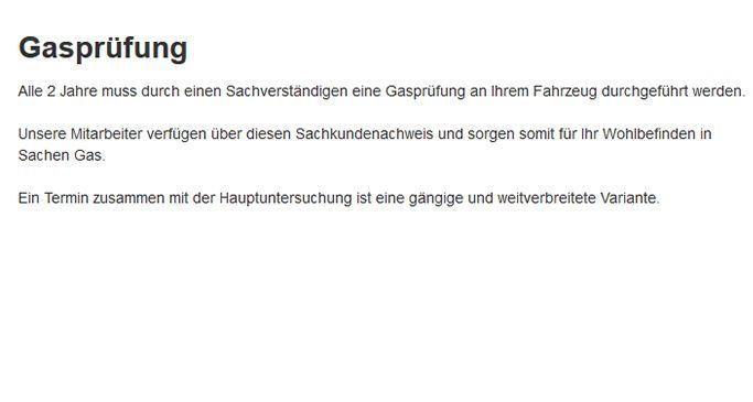 Gasprüfung in  Wuppertal