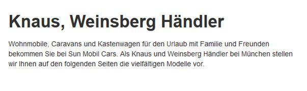 Knaus-Weinsberg-Kastenwagen für  Darmstadt