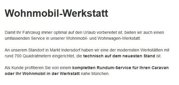 Wohnwagen-Reparatur